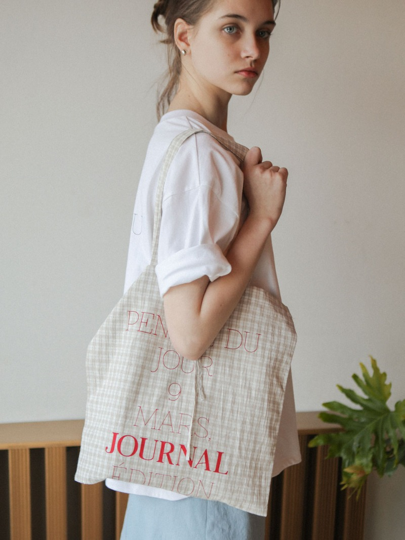 5.7 JOUR BAG_BEIGE CHECK