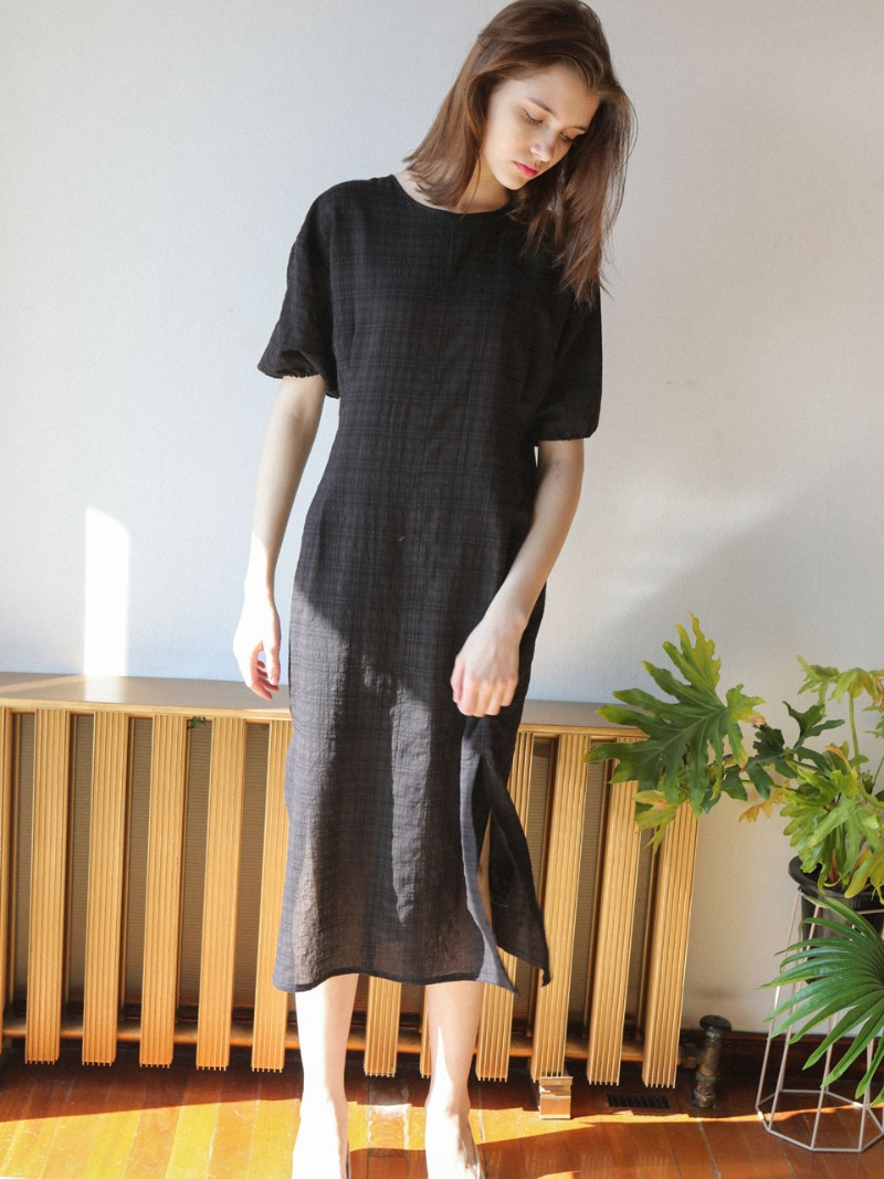 4.25 LIGHT CHECK DRESS_BLACK