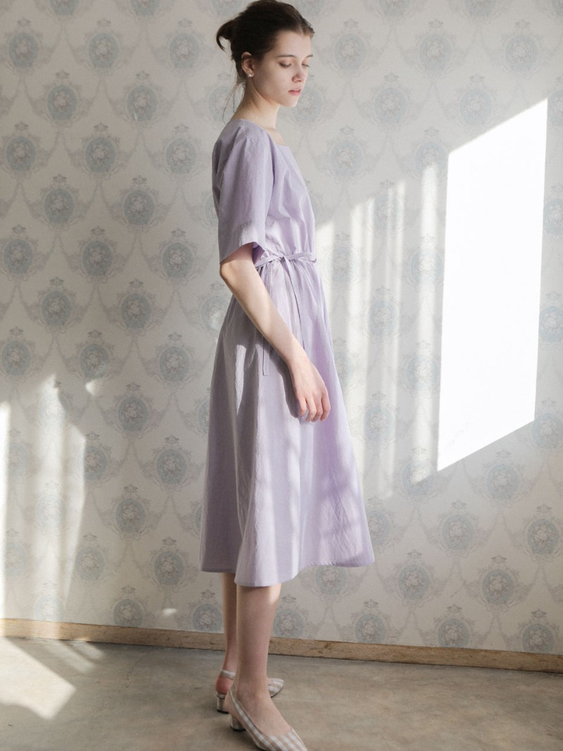 4.21 SQUARE COTTON DRESS_LAVENDER