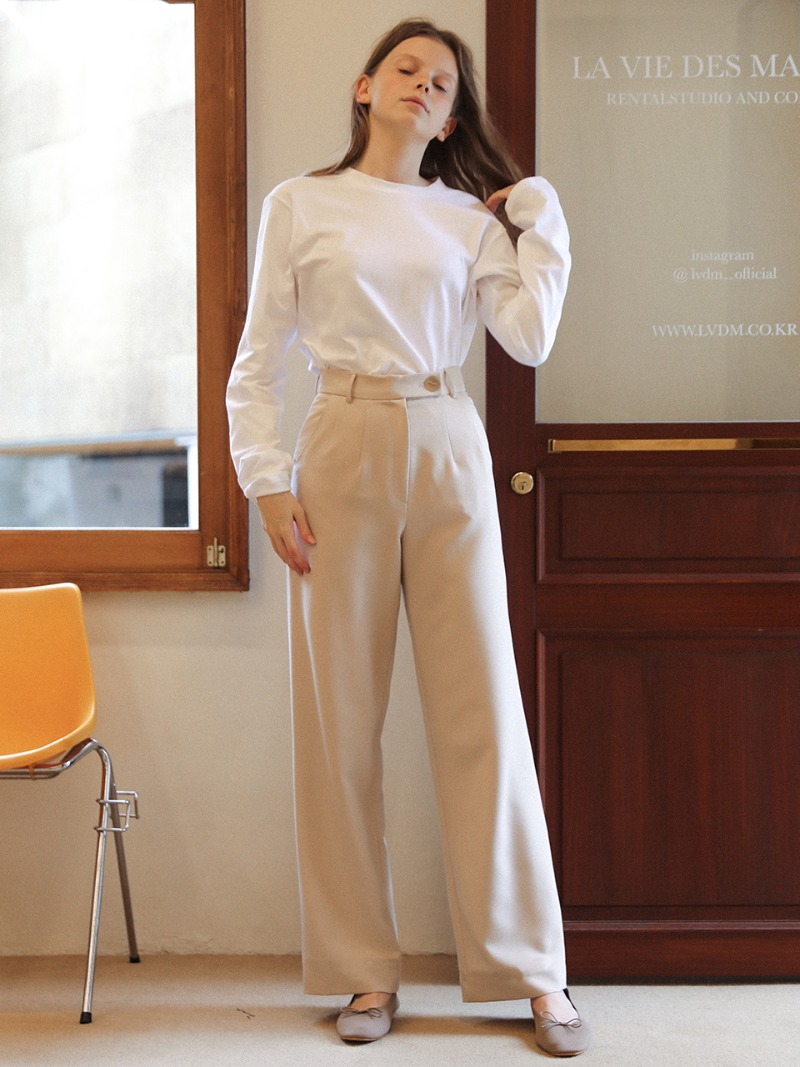 3.29 WIDE SLACKS_GREY BEIGE