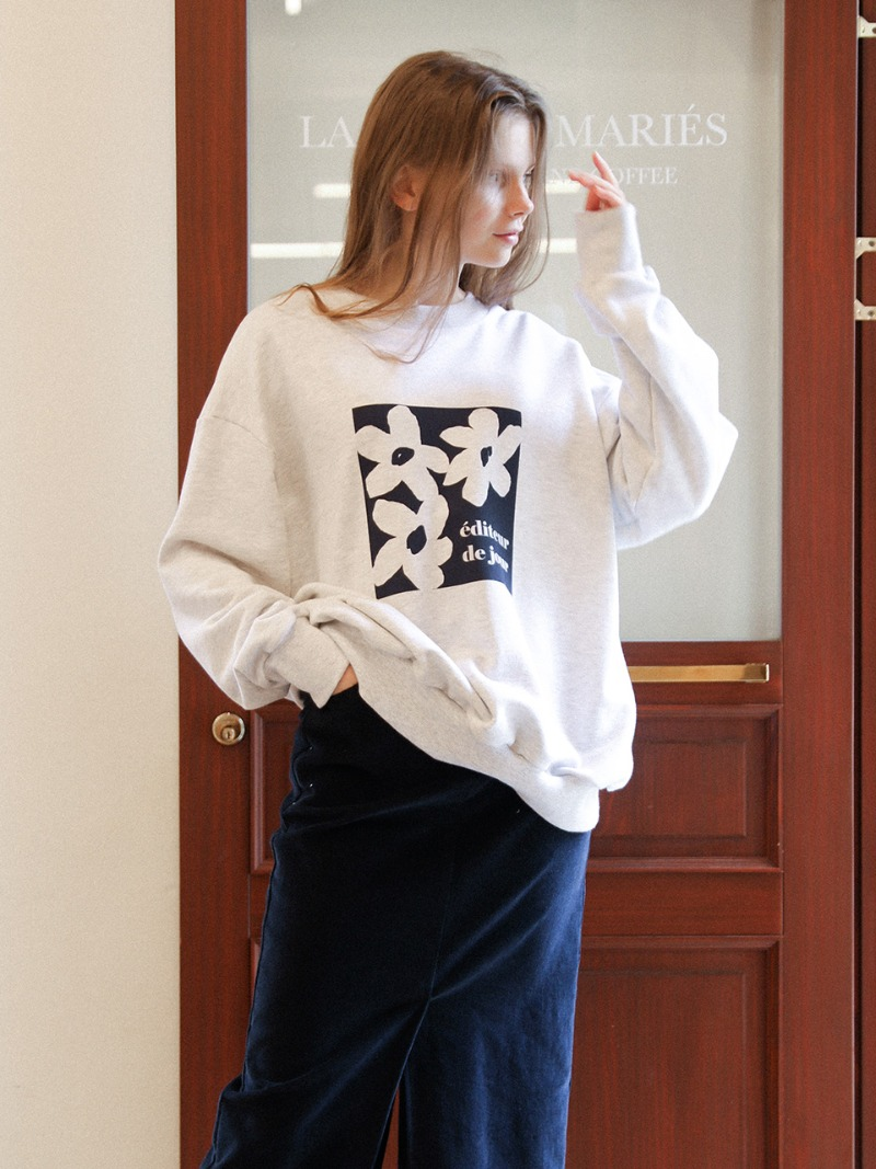 2.44 DAISY SWEATSHIRT_LIGHT MELANGE