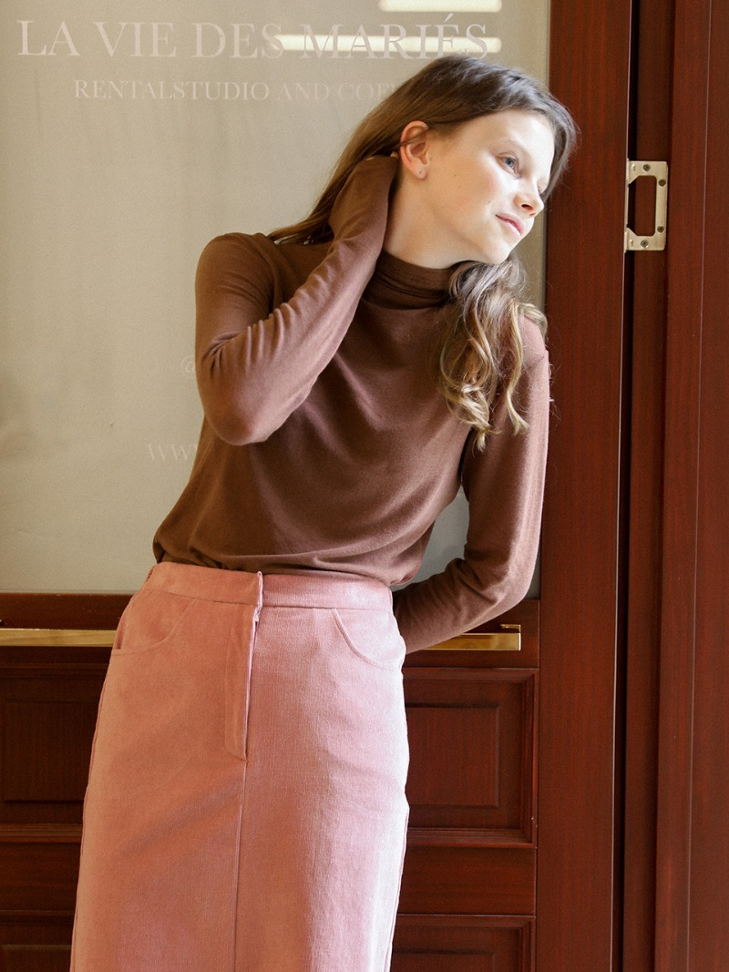2.24 LAYER KNIT TOP_BROWN