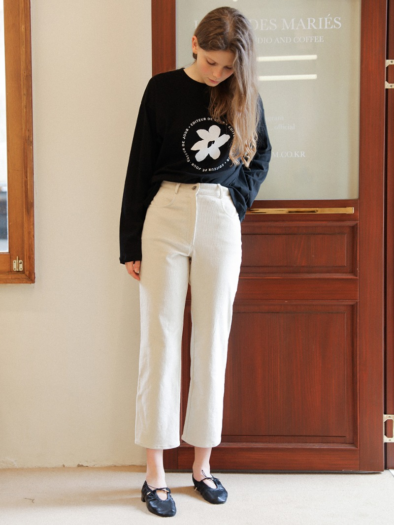 3.31 CORDUROY TROUSERS_CREAM