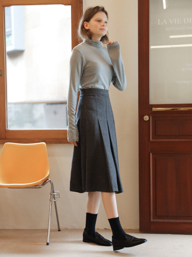 3.30 PLEATS SKIRT_GREY
