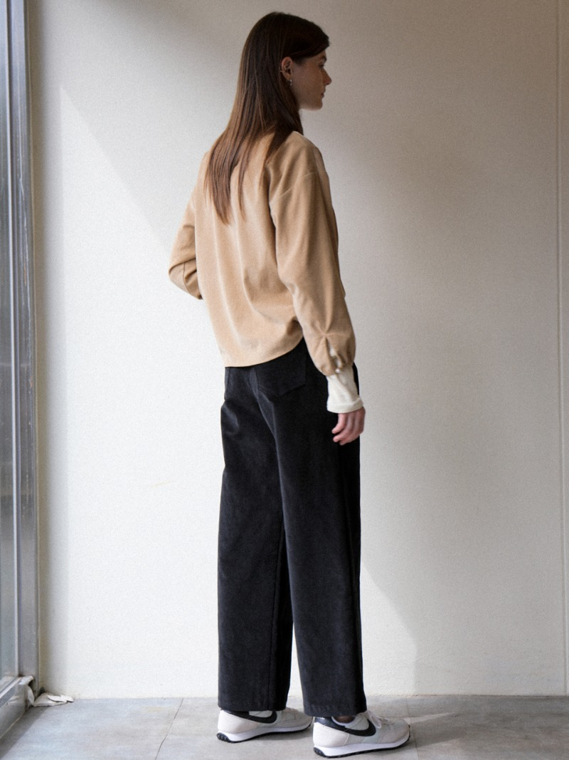 3.33 WIDE CORDUROY PANTS_BLACK