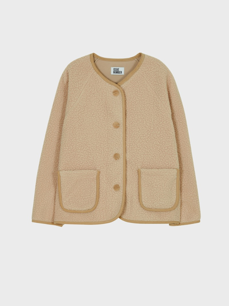 1.14 FLEECE CARDIGAN_BEIGE